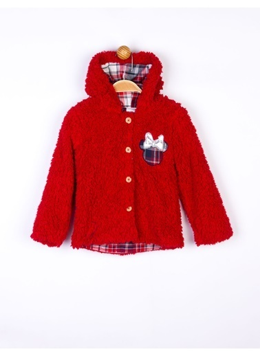 Minnie Mouse  Kapüşonlu Çocuk Mont 16123 Kırmızı